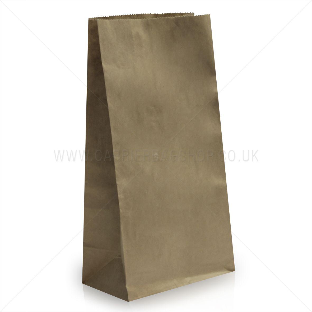 2a210adf778 Block Bottom Brown Kraft Paper Bags
