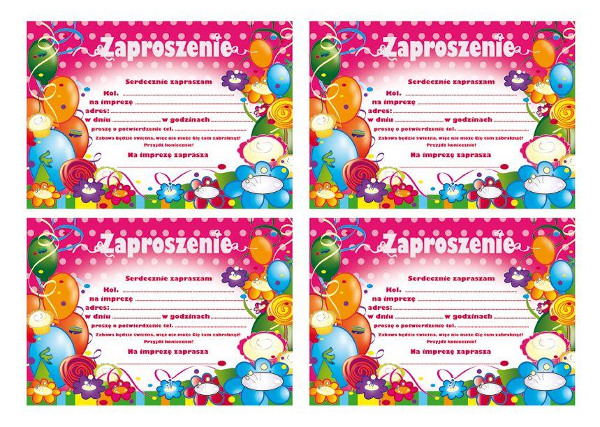 Zaproszenia Urodzinowe Dla Dzieci Do Wydrukowania Pictures Urodziny