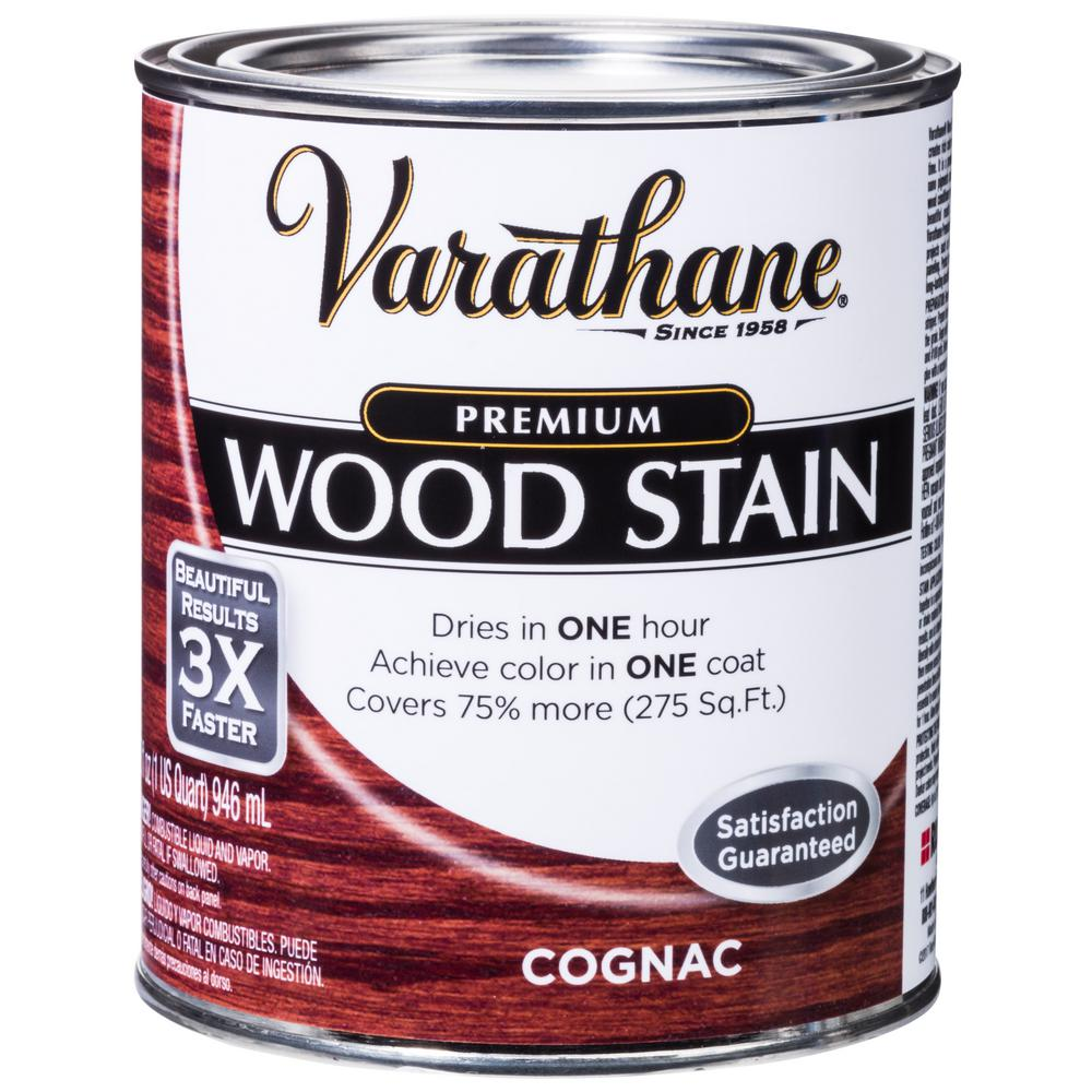 Varathane 1 Qt Cognac Premium Fast Dry Interior Wood Stain 2 Pack 271150 The Home Depot Interior Wood Stain Staining Wood Varathane Wood Stain