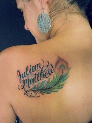 Significado De Tatuajes De Plumas Con Nombres En Colores Tatuajes