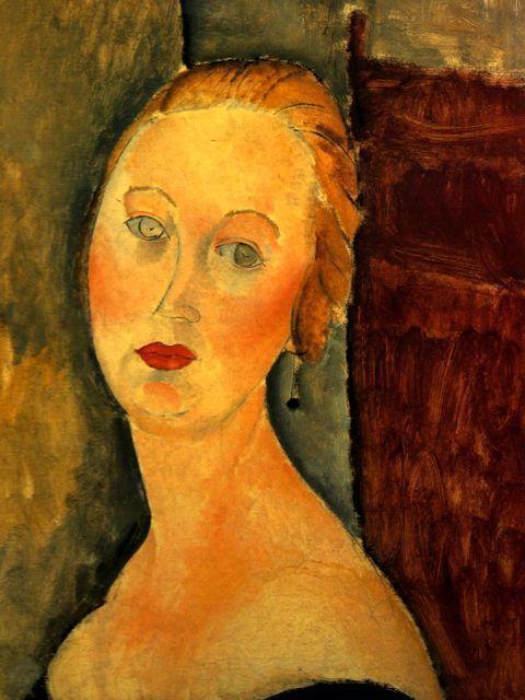 Bevorzugt femme blonde #portrait de Germaine Survage #modigliani #montableau  LM15