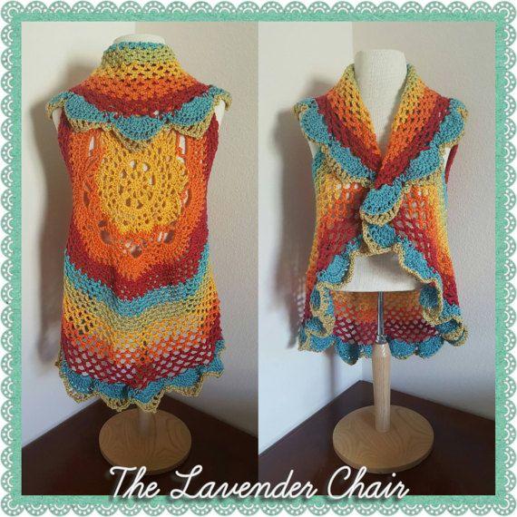 Starburst Mandala Circular Vest Crochet Pattern *PDF FILE ONLY ...