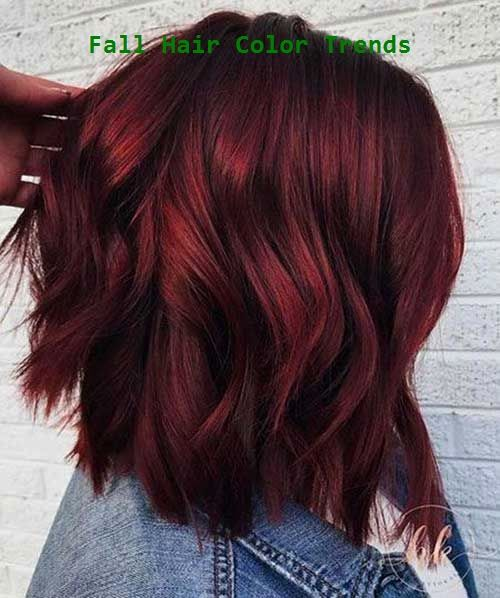 Latest Trend Hair Color Ideas for Short Hair #fallhaircolorforbrunettes