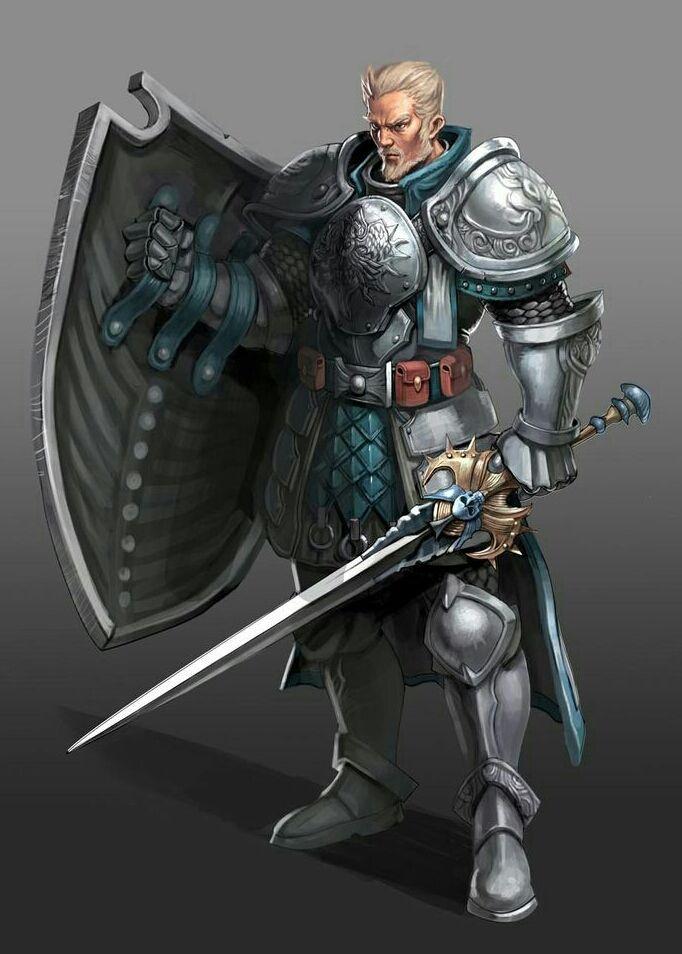 Human Fighter Knight - Pathfinder PFRPG DND D&D d20 ...