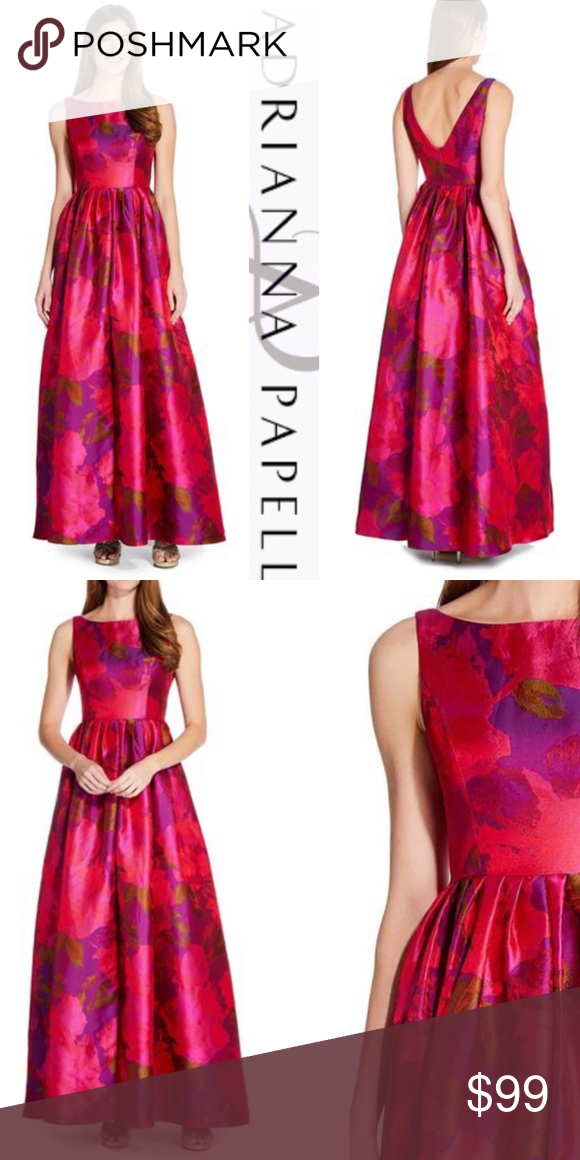 Adrianna Papell Floral Watercolor Gown Watercolor Dress Colorful Dresses Clothes Design
