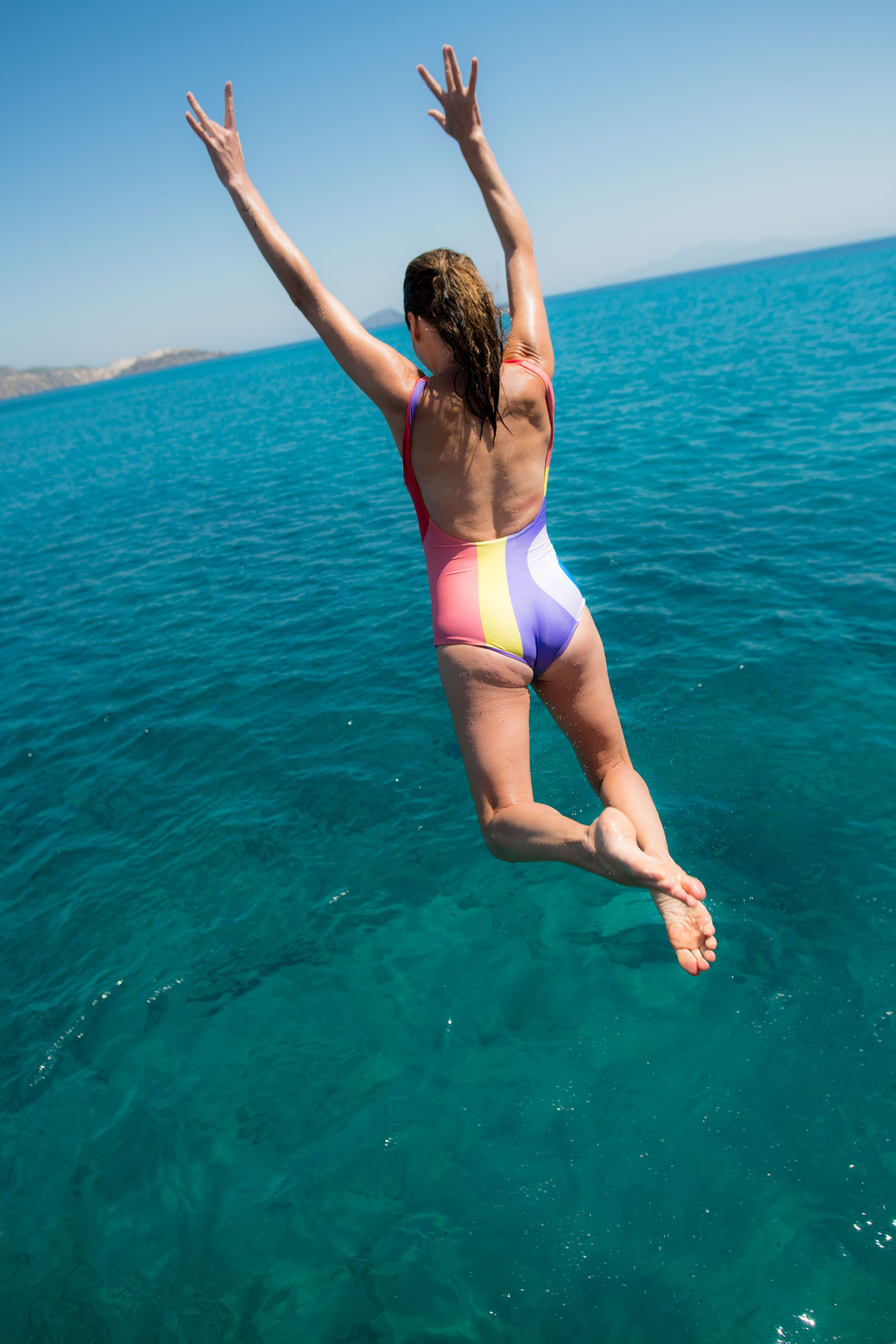 349fcf9ccec SWIM TRY-ON SESH (HIGH-RISE BIKINIS, CUTE ONE-PIECES…AND SO MUCH SKIN) |  It's. Almost. Swim. Suit. Season...Oy, Mamas! We're trying ALL the bathing  suits ...
