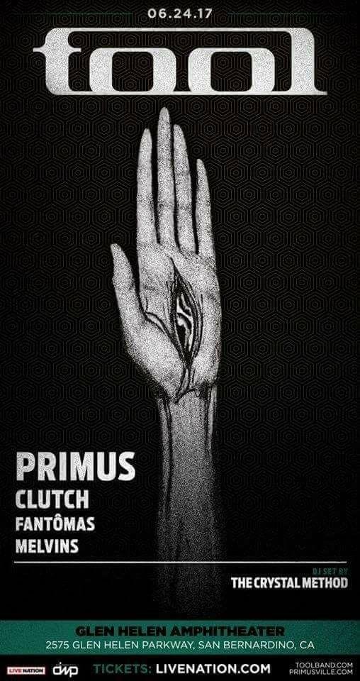 Tool Primus Clutch Fantomas Melvins Poster Music Poster Tool Band Art Tool Band Artwork