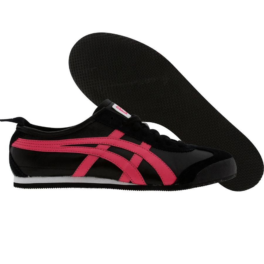 low priced ca74e 2f310 Asics Onitsuka Tiger Womens Mexico 66 (black / hot pink ...