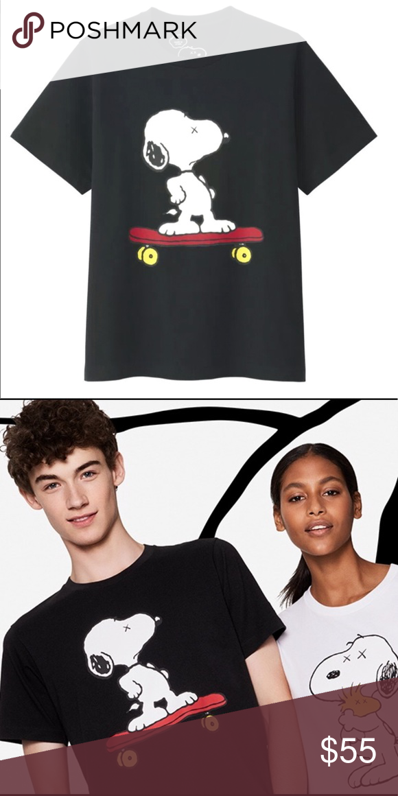 2e8f31660f Uniqlo Kaws x Peanuts T-shirt Authentic Uniqlo Kaws x Peanuts Snoopy on  skateboard t-shirt. Brand new with tag and never worn. Purchased in Japan  and no ...