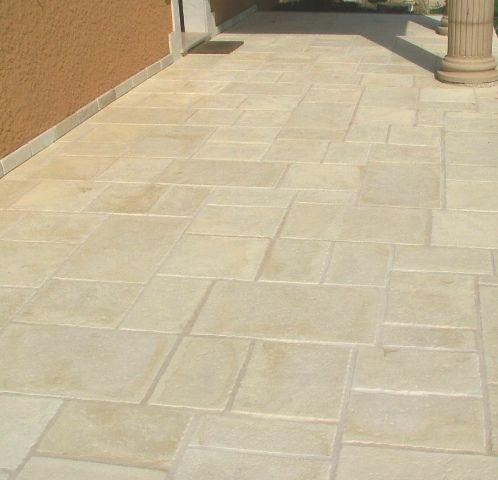 Les produits fabridalle mise en oeuvre fabridalle pierre - Dalle terrasse pierre reconstituee ...