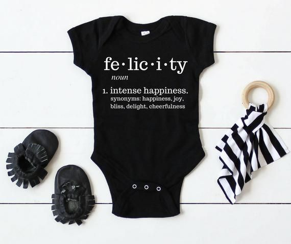 CUSTOM BABY NAME Definition Shirt or Onesie / Personalized ...