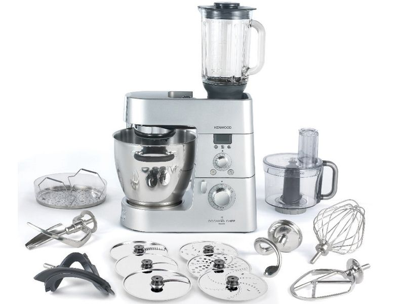 The complete Kenwood Chef stand mixer and cooking machine ...