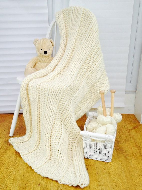 Luxury Super Chunky Giant Throw Knit Kit Baby Blankets Pinterest