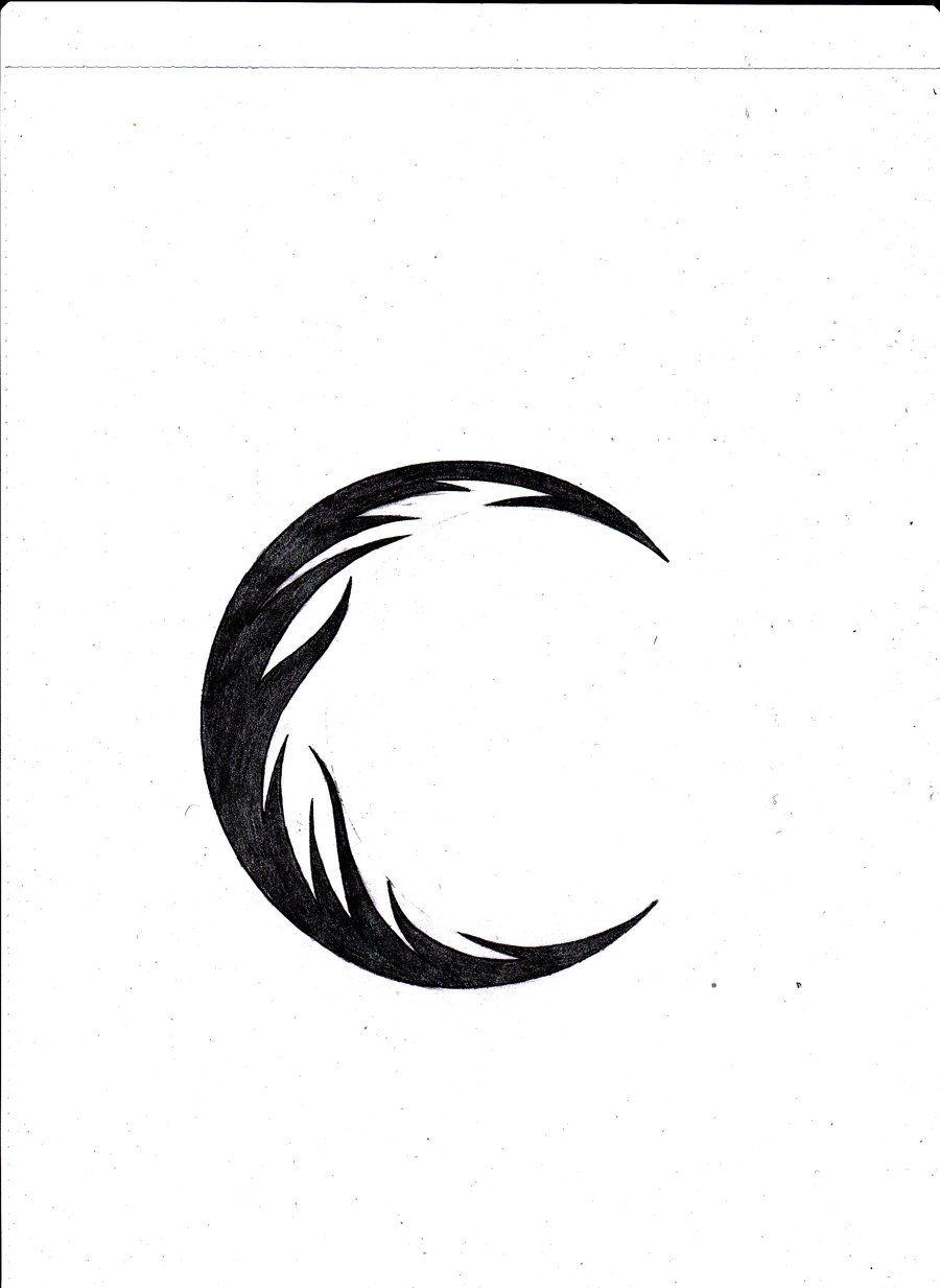 Again Tribal Moon Tattoo Design 凯尔特人w毛利人 部落图腾 Moon
