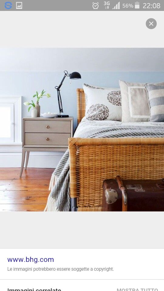 uk availability b4a04 40a8e Ikea Wicker Bed ideas | My room in 2019 | Light blue walls ...