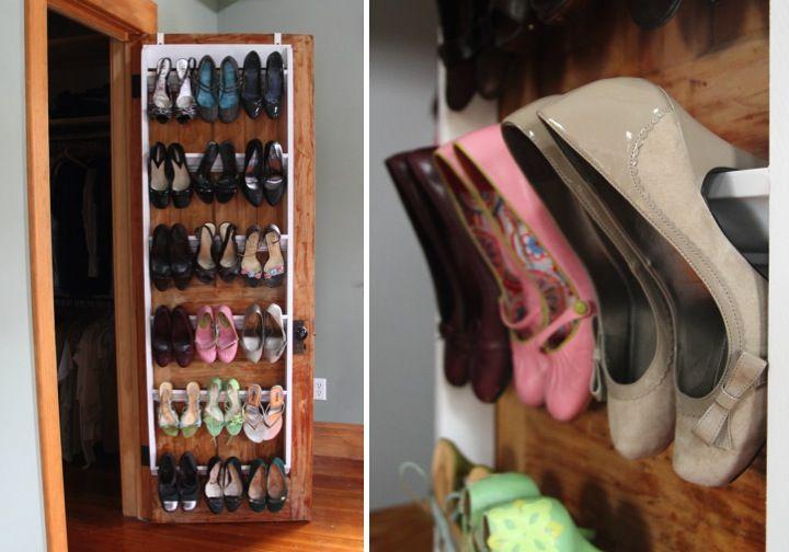 Closet Shoe Organizer Part - 19: DIY Crown Molding Closet Shoe Organizer For Heels - Blog -  Homeandawaywithlisa