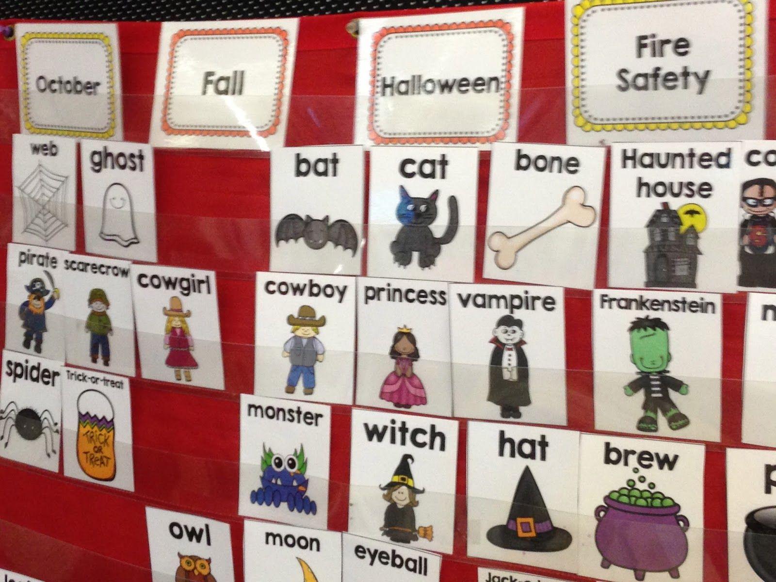 October Writing Center Kindergarten Writing