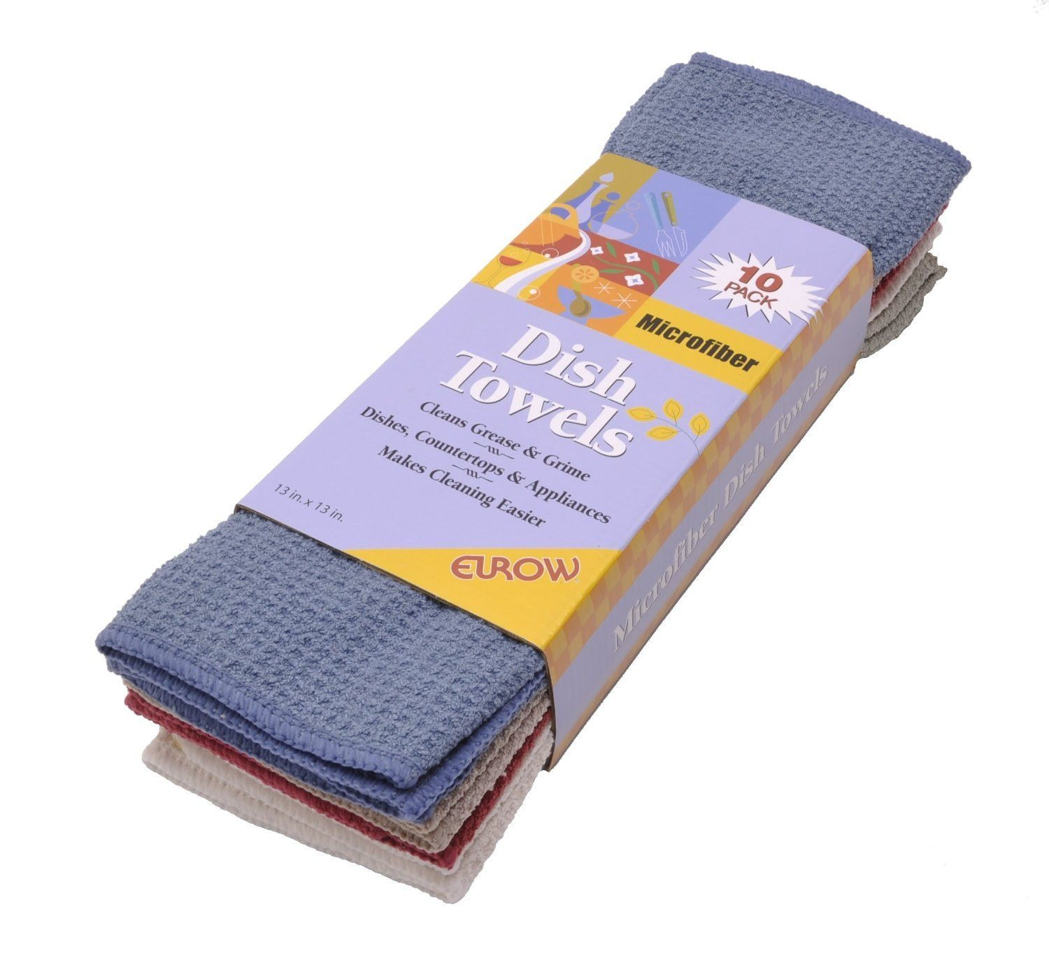 Microfiber Waffle Weave Dish Cloths 10 Pack Restaurant Cleaning