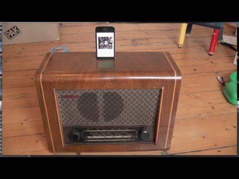 Antique Radio Reborn As Sophisticated Bluetooth Speaker Youtube Vintage Valve Antique Radio Vintage Radio