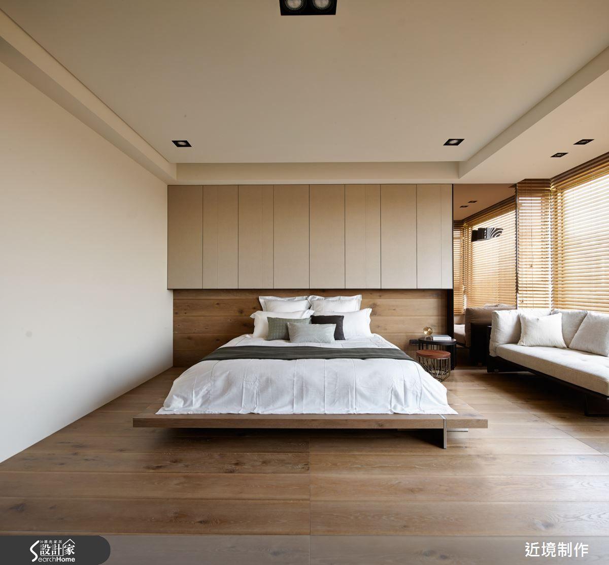 5 room hdb master bedroom design  現代風的裝潢圖片為近境制作的設計作品該設計案例是一間無總坪數為