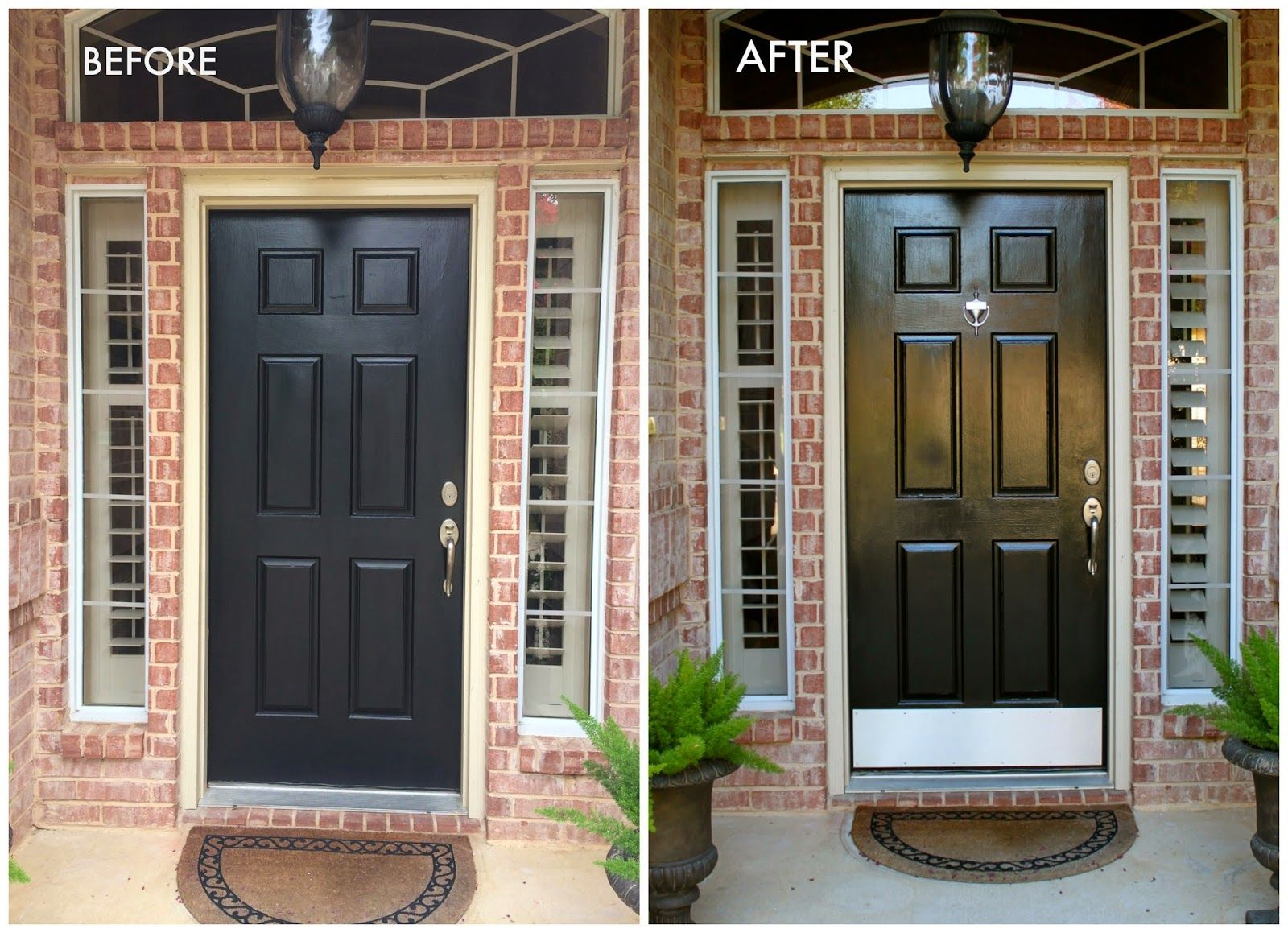 Front door paint before after modern masters project