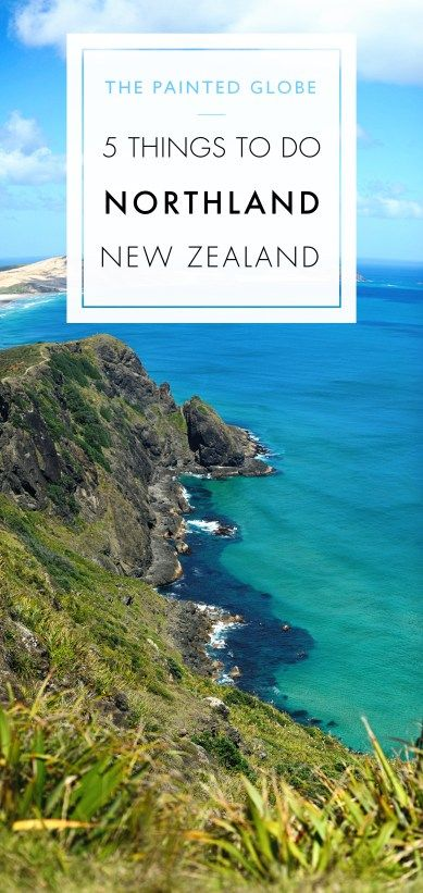 5 things to do in Northland, New Zealand - The Painted Globe. Photo taken up at…