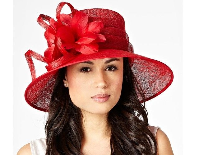 affad9a1 Hat Box red looped feather corsage hat, Debenhams | Ladies Hats and ...