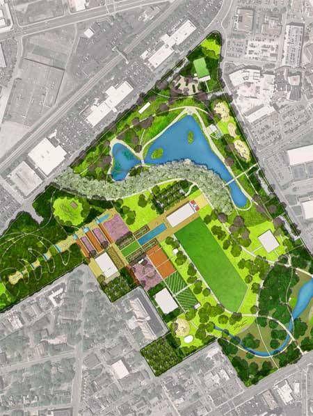 Centennial Park Master Plan Tennessee Gustafson Guthrie Nichol Master Plan Centennial Park Landscape Plan