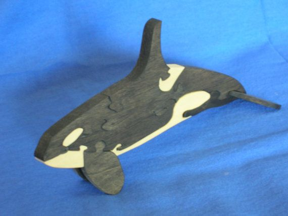 orca whale puzzle by brianlbecker on etsy 10 00 sea life theme