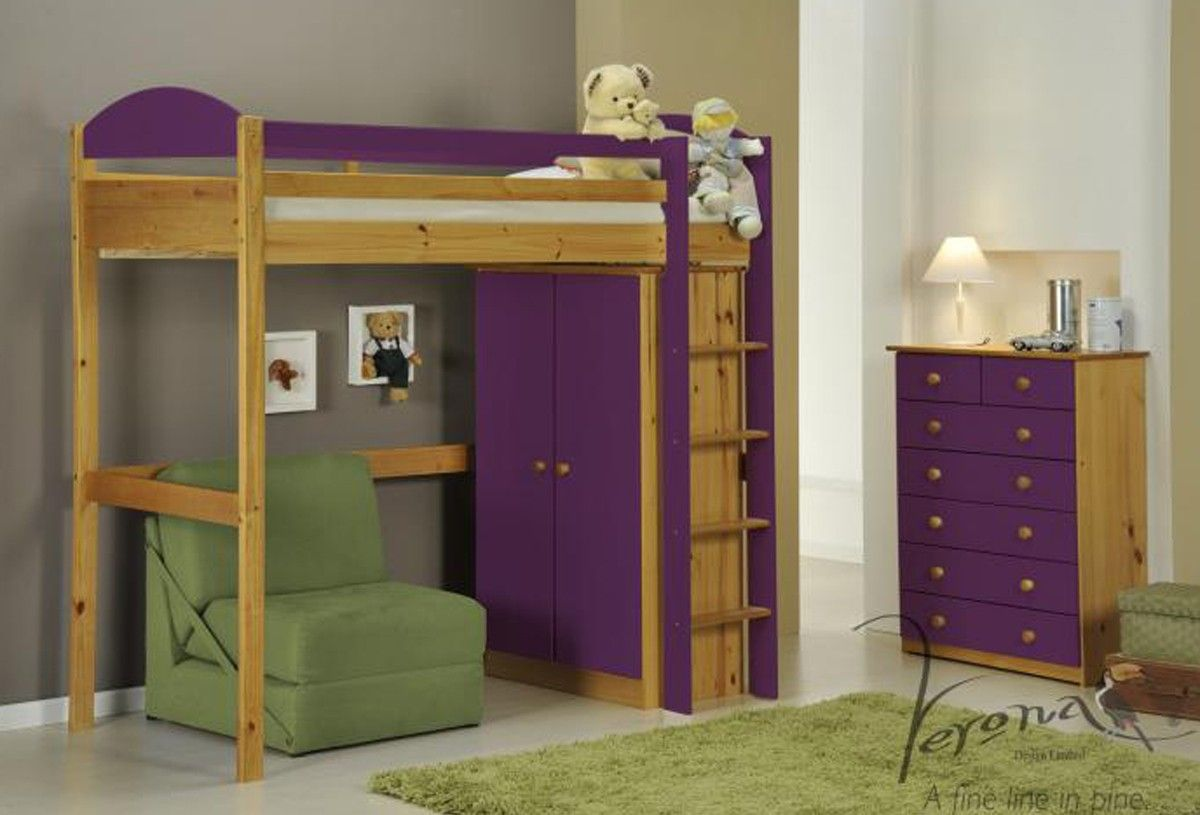 Loft bed with desk blue  This Bed is a great space saver its having sufficient place