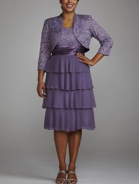 cheap short purple plus size mother of the bride/groom gown 2014