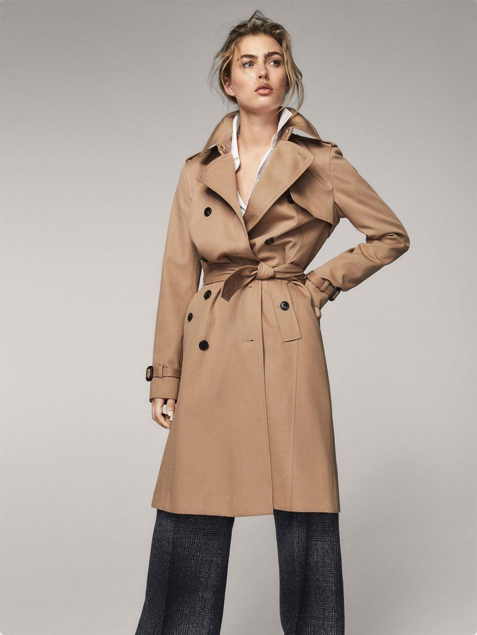 Manteau massimo dutti femme beige