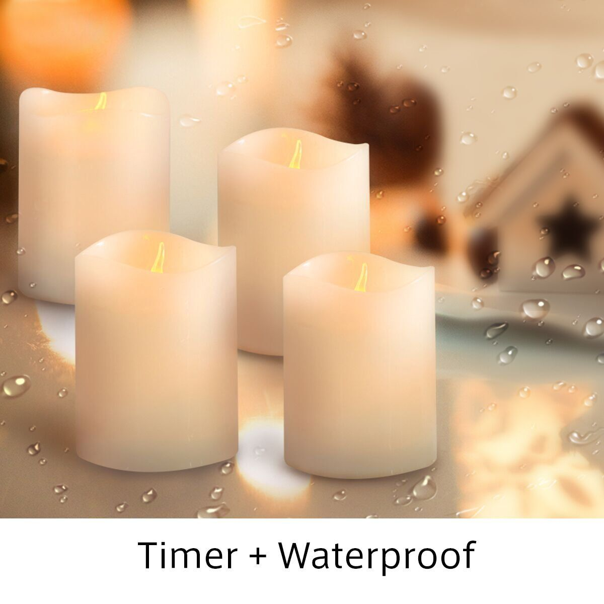Flameless Votive Candles Kmsdeco Flameless Pillar Candles Waterproof Led Votive Candles With