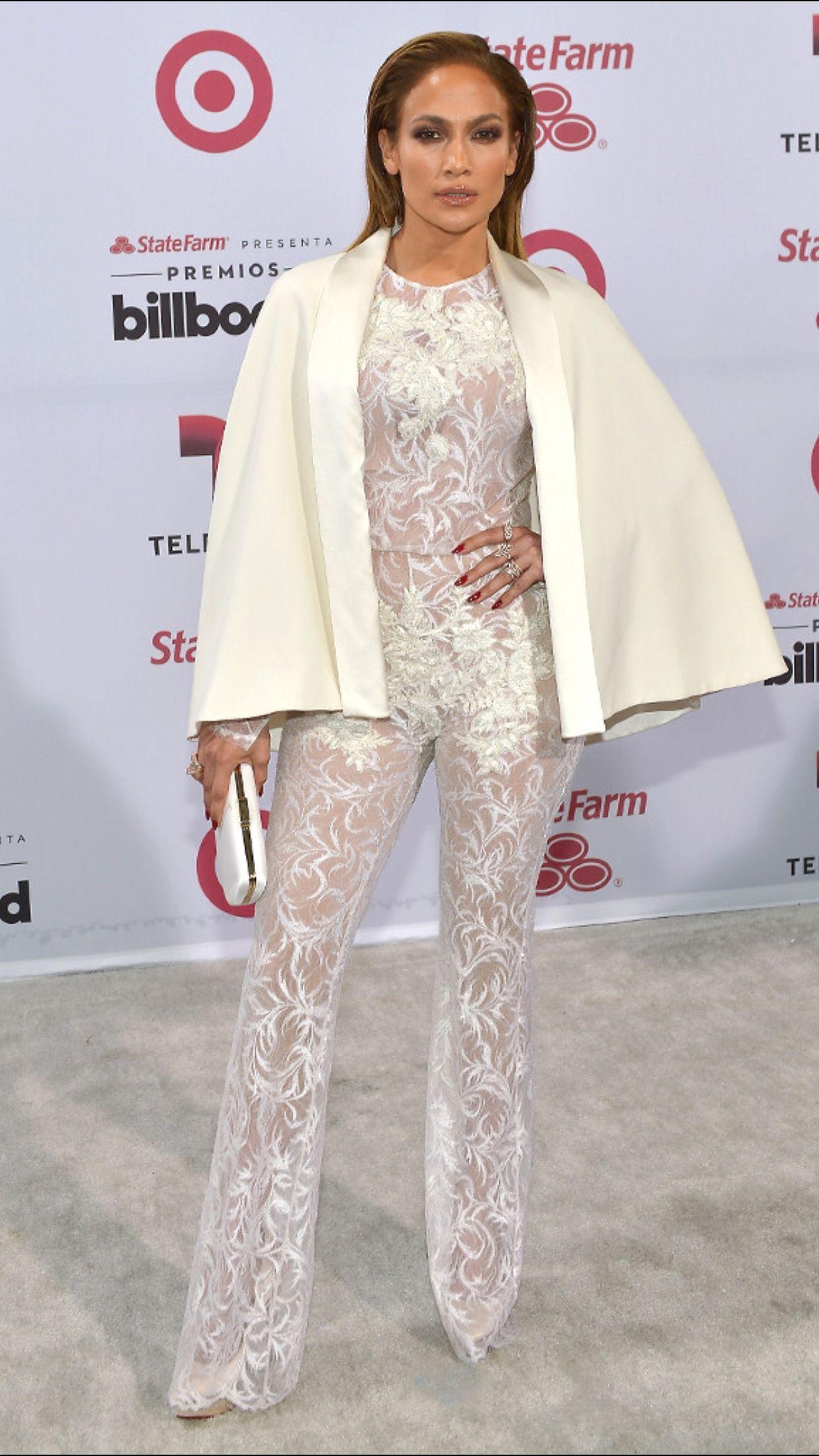 Jennifer Lopez in Charbel Zoe at the Billboard Music