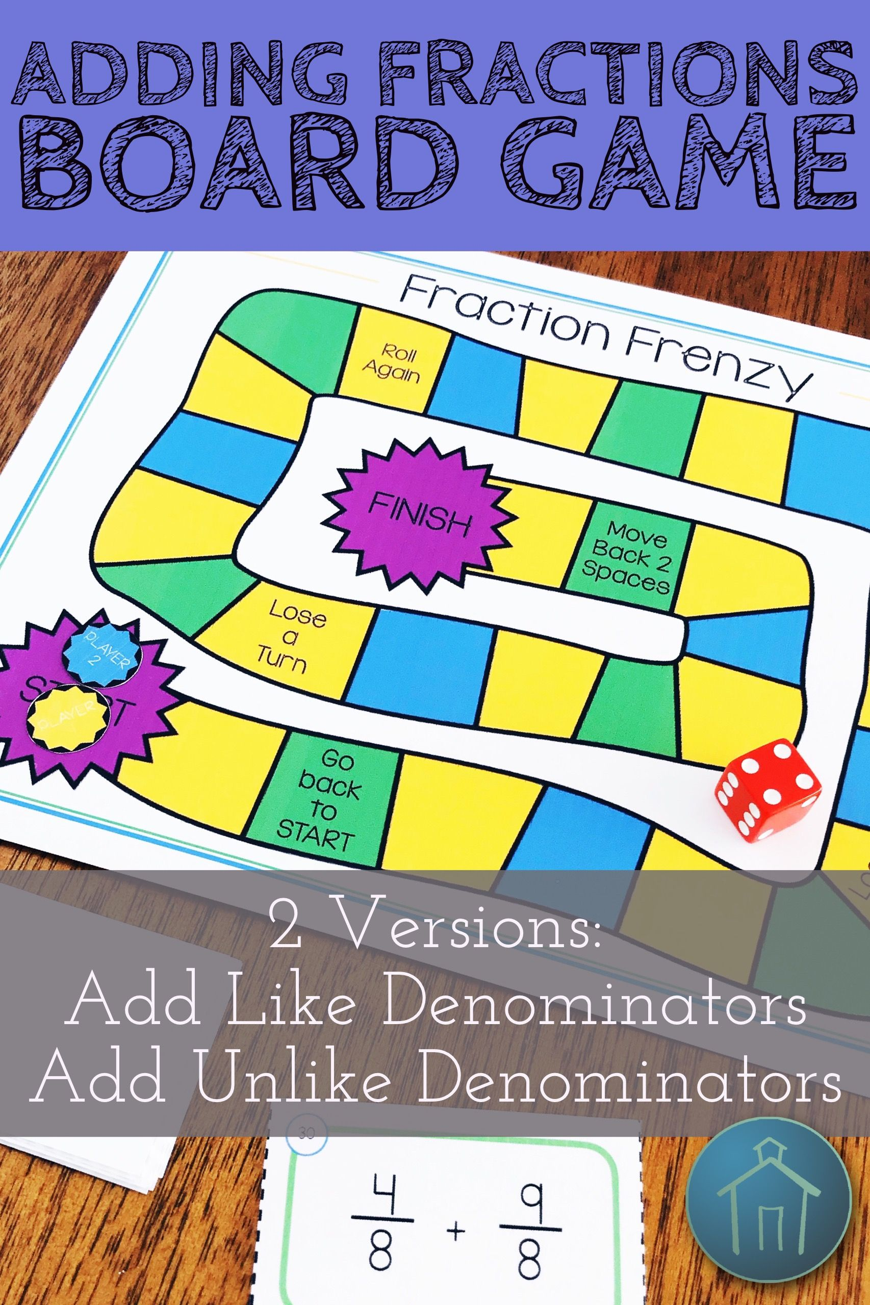 Are You Looking For An Engaging Fraction Math Center Activity Use This Adding Fractions Math Game For Fract Adding Fractions Fractions Math Center Activities Adding fraction math games