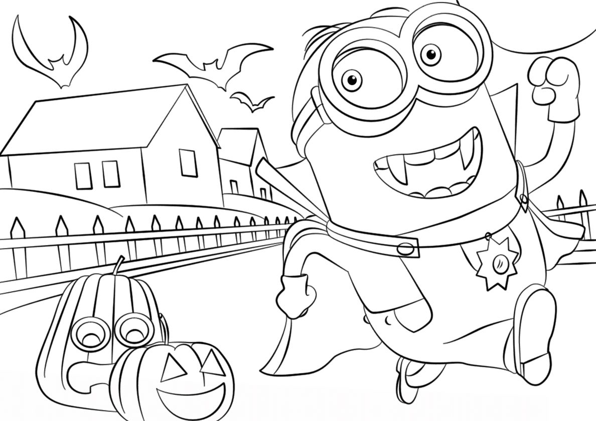 Halloween Adventure High Quality Free Coloring Page From The Category Minions More Printa In 2020 Minions Coloring Pages Witch Coloring Pages Minion Coloring Pages