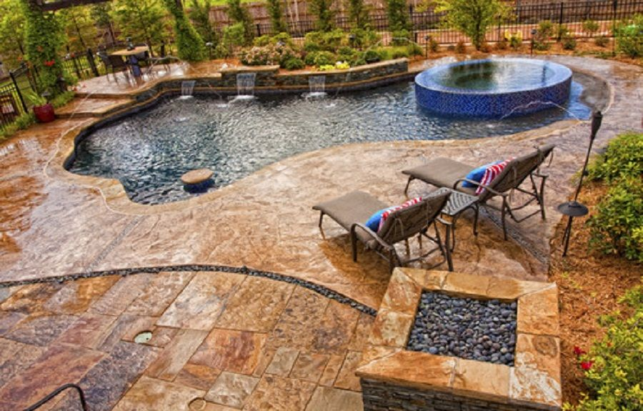 Concrete Pool Deck Ideas Outdoorsmodern Pool With Concrete Pool Desk And  Wooden Pool Deck Chair Modern  Concrete Pool Designs