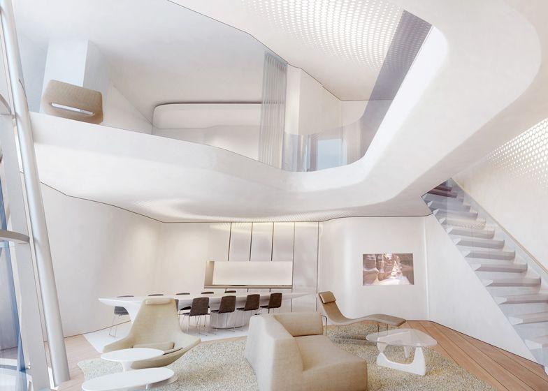 Zaha hadid reveals interiors for me dubai hotel pao for Interior design zaha hadid