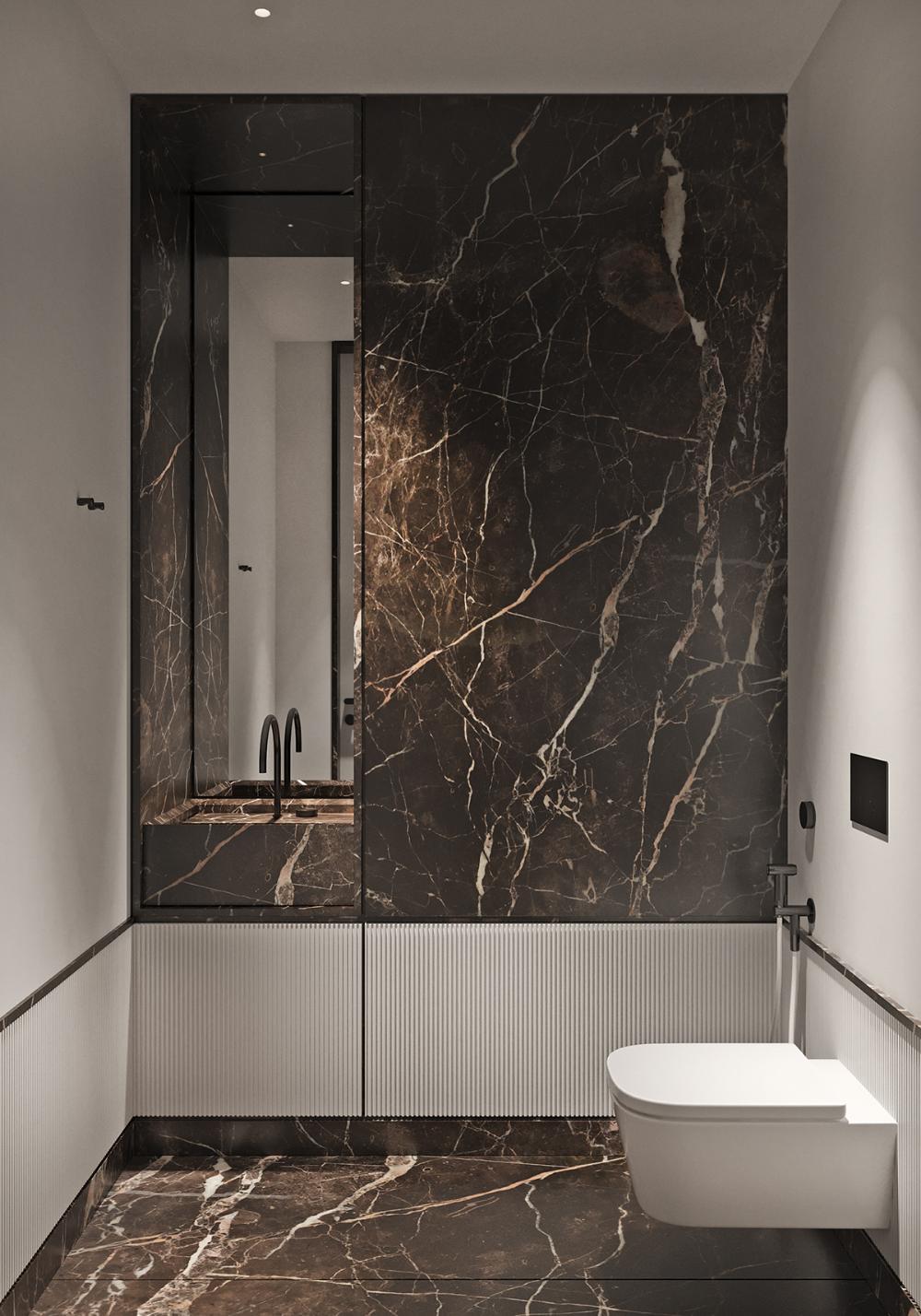 Tol Ko Oats Flat Part 1 On Behance Marble Interior Textured Glass Door Large Bathroom Design