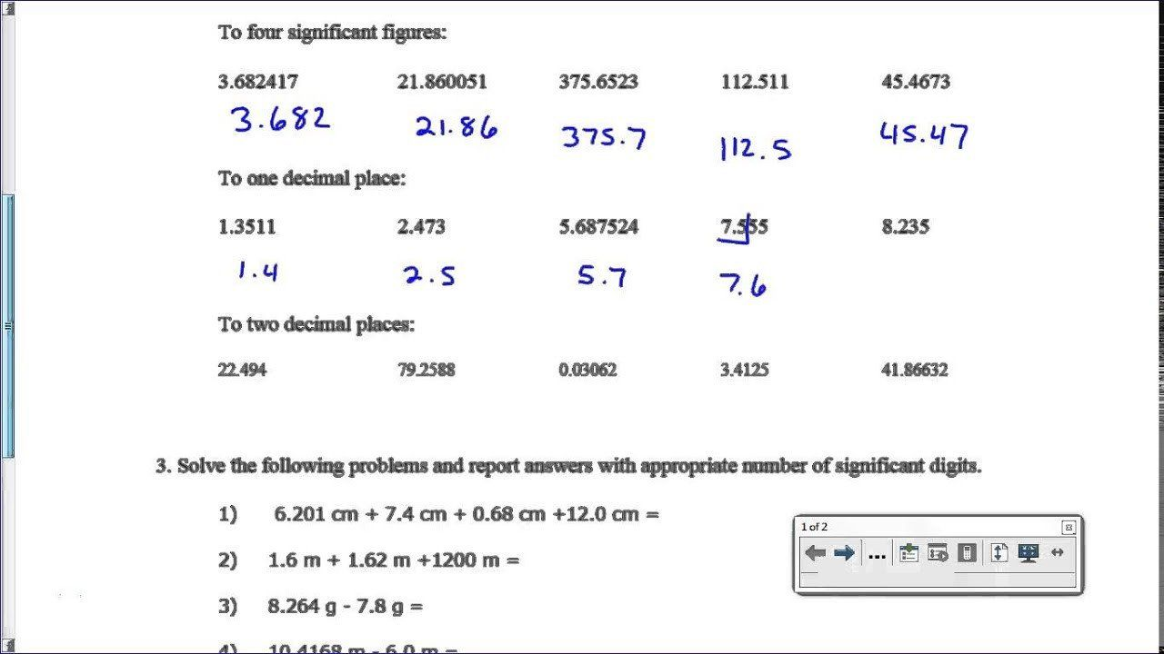 Significant Figures Worksheet Answers Significan Figure Worksheet Key Answers Scientific Method Worksheet Worksheets