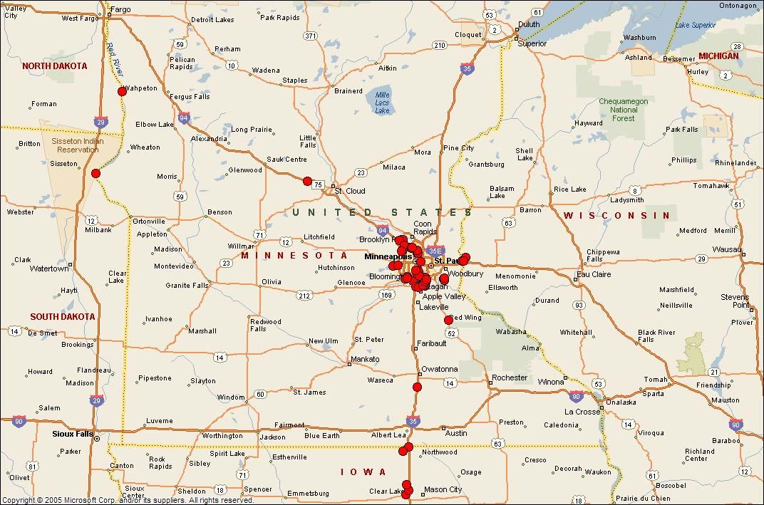 Iowa Minnesota Wisconsin Map   Map Of Minnesota And Wisconsin   Favorite Places U0026 Spaces ...