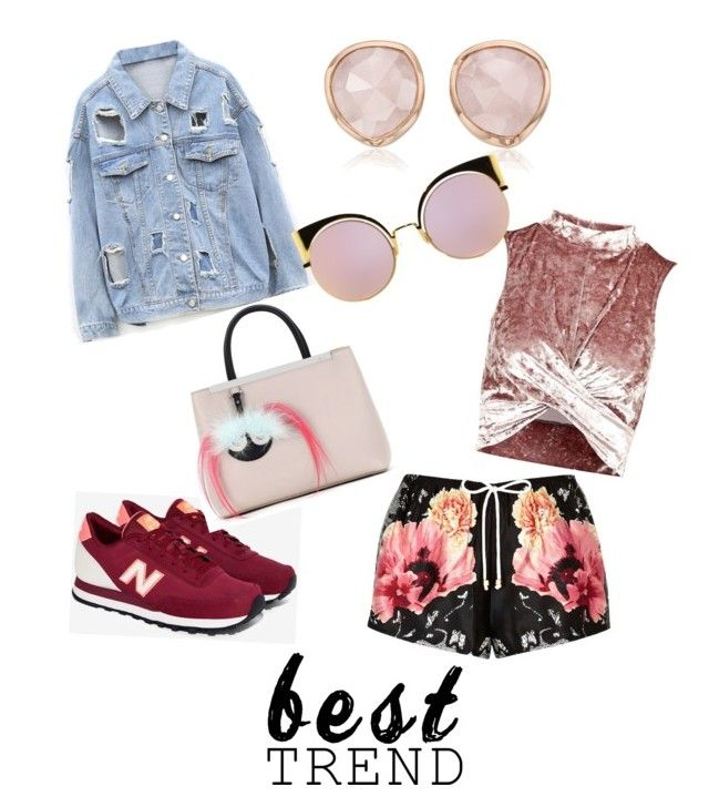 """Love Trend!"" by patricia-sanches on Polyvore featuring River Island, New Balance, Topshop, Fendi and Monica Vinader"