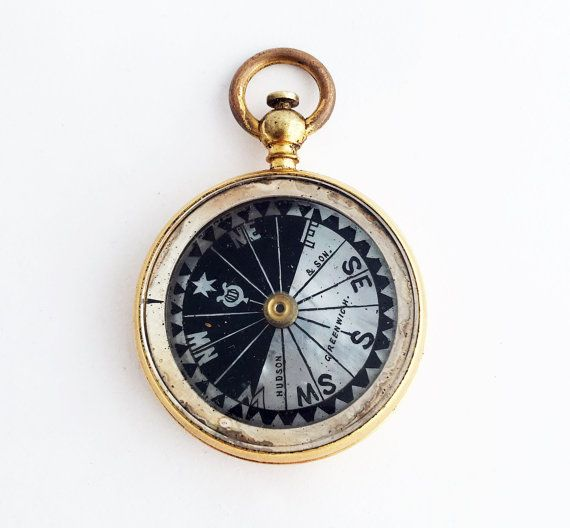 French Pocket Compass Vintage Hunter Compass Wanderlust Gift Pocket Compass Wanderlust Gift Pocket