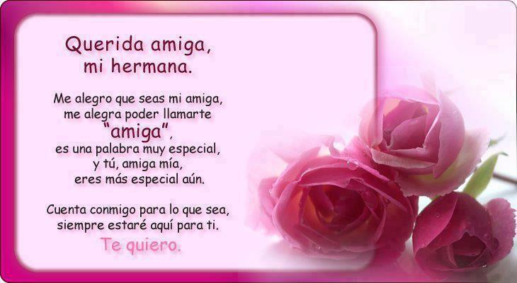 Querida Amiga Mi Hermana Me Alegro Que Seas Mi Amiga Prayer For My Son Happy Birthday Sister Birthday Humor