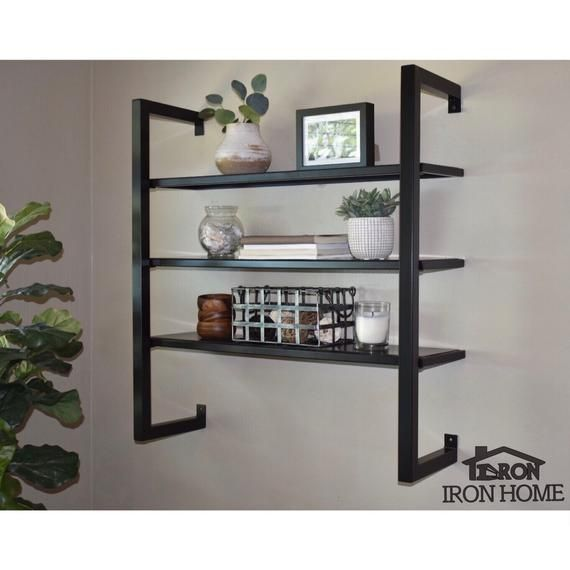 Framed Metal Floating Shelves 12