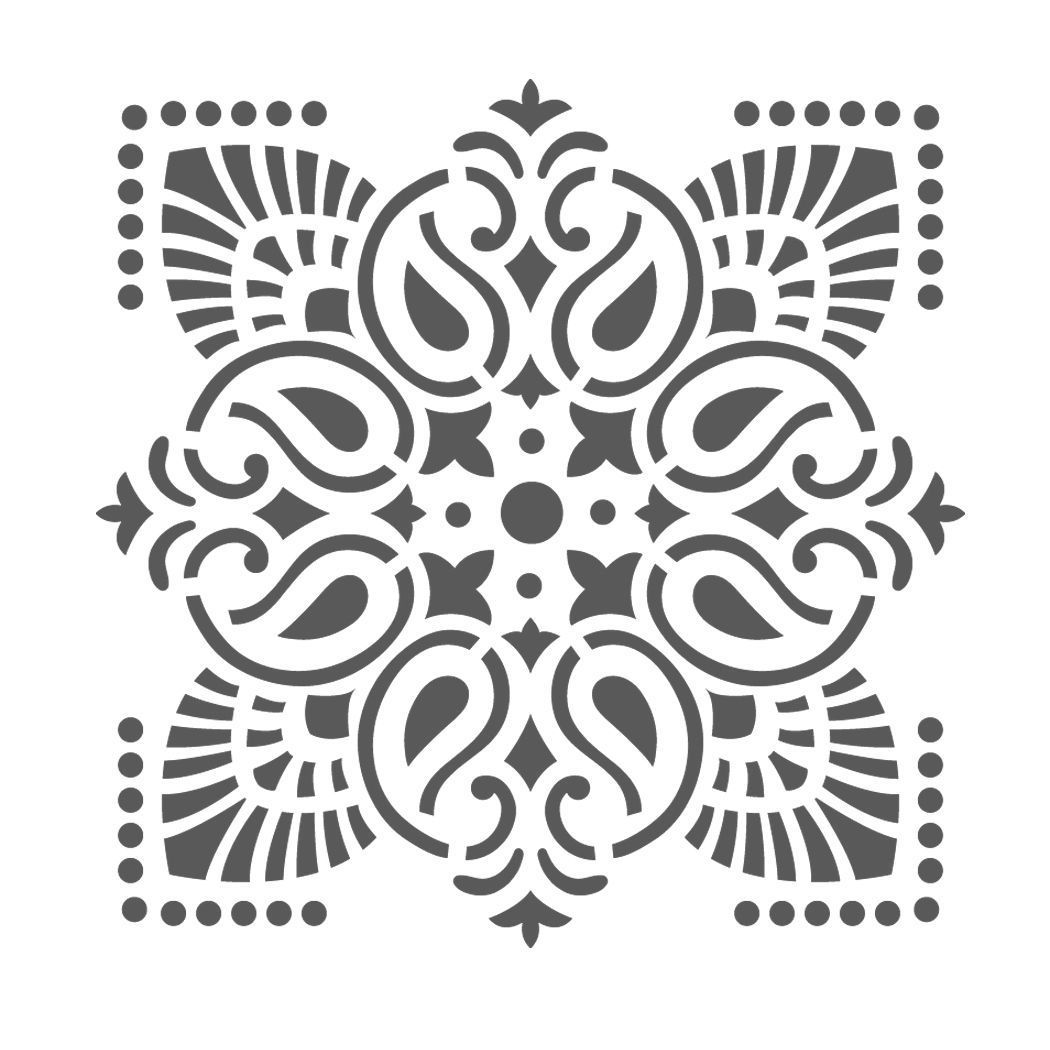 Simple Wall Designs Stencils Large Wall Stencils Damask Stencil Diy Reusable Pattern