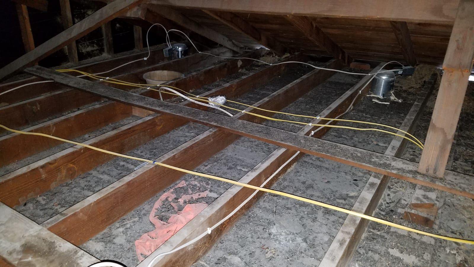 Attic Home Insulation Cleaning Attic