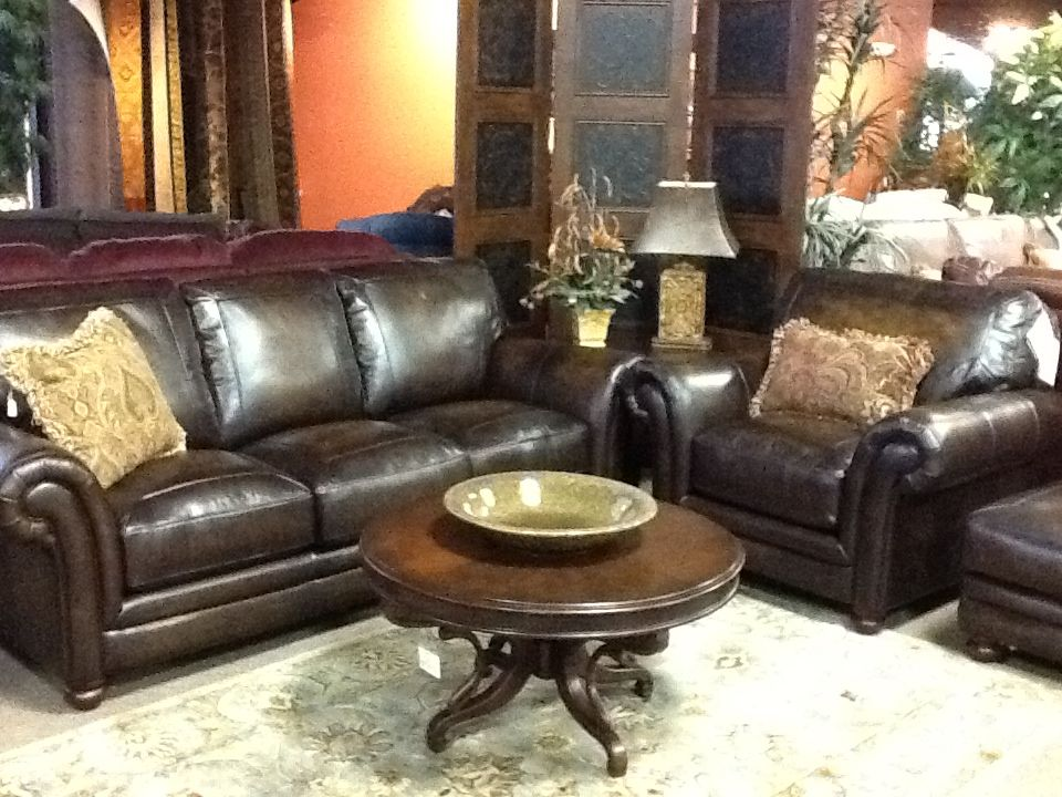 Lazy Boy William Sofa Chair And Ottoman In Gorgeous Dark Chocolate Leather