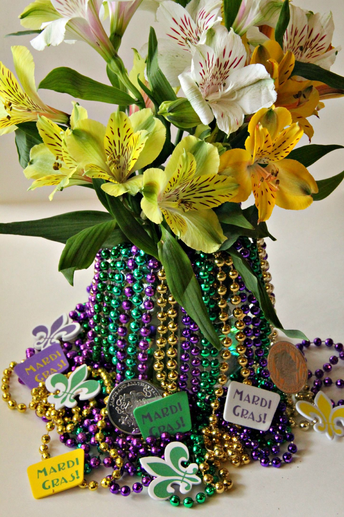 3-step mardi gras decoration | mardi gras ideas | pinterest | mardi