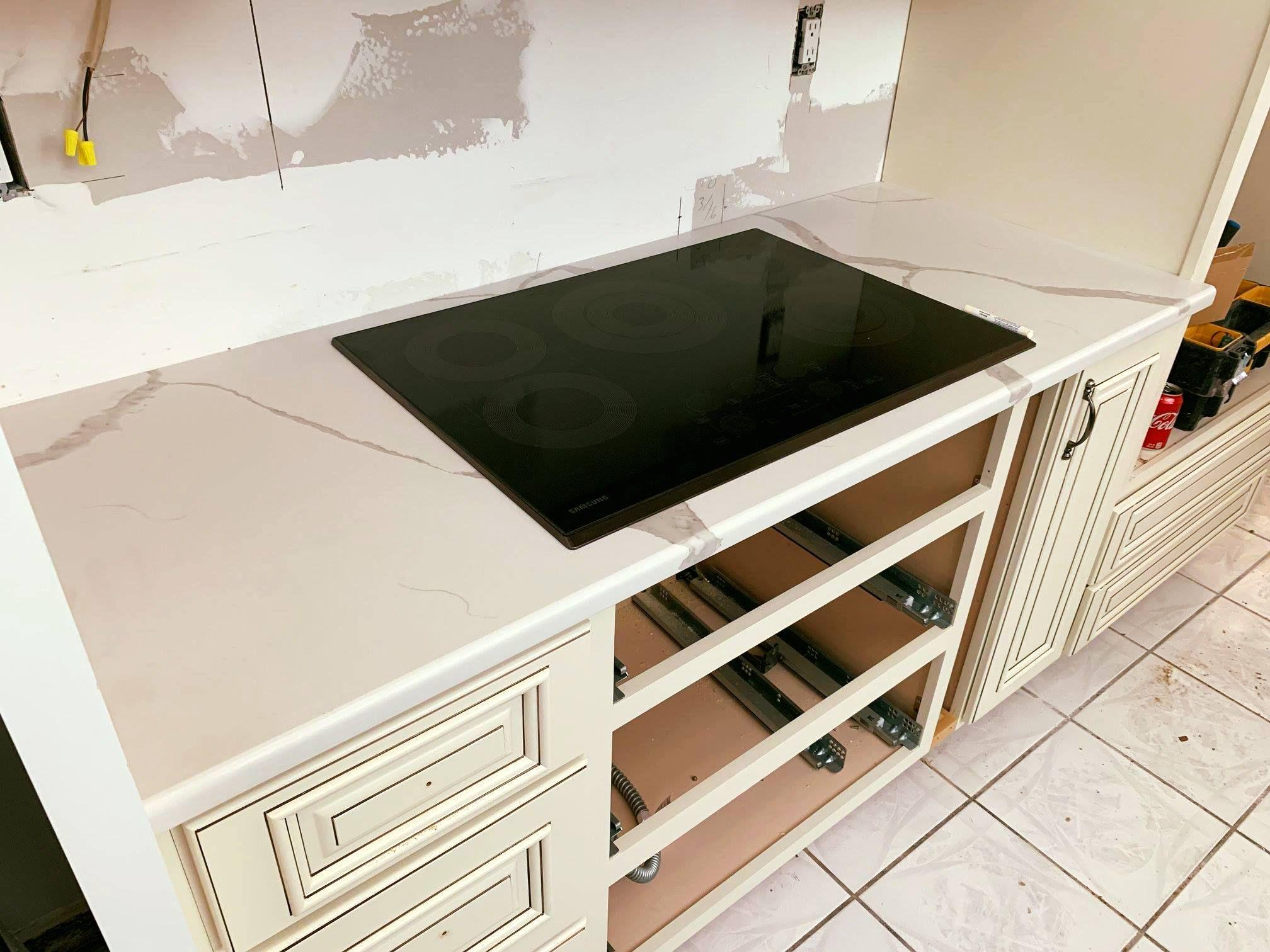 Calcutta Phoenix Quartz Kitchen Countertops Countertops Quartz Countertops